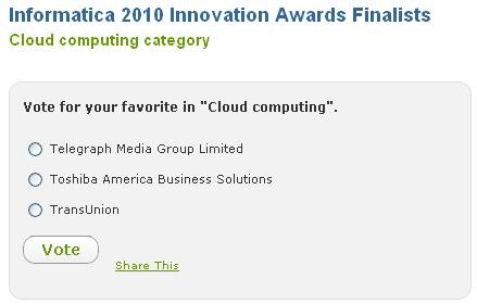 Informatica Cloud Innovation Award